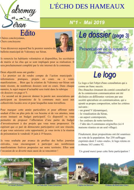 Bulletin N°1 - Mai 2019